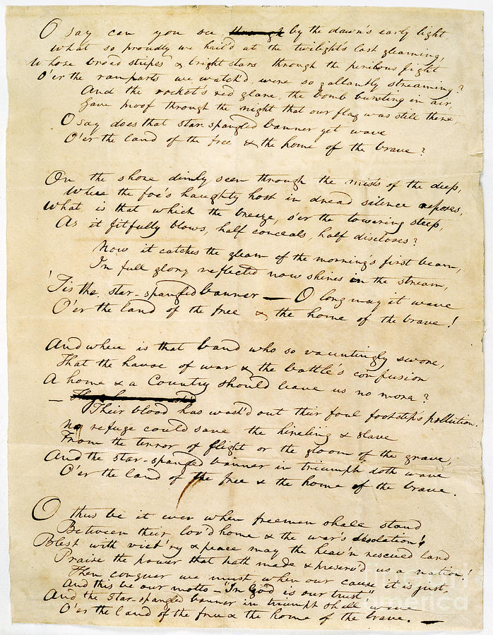 1814 Drawing - Star Spangled Banner 1814 by Granger