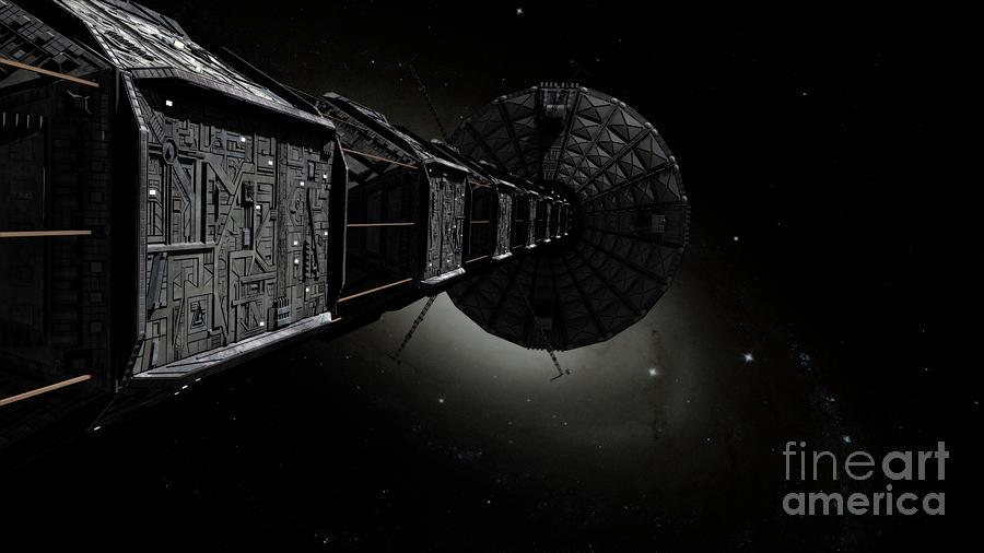 Horizontal Digital Art - Starship Inspired By The Novels by Rhys Taylor
