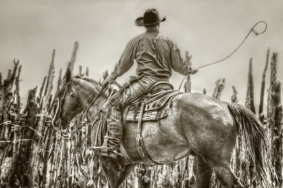 Cowboy Photograph - Starting A New Loop by Megan Chambers
