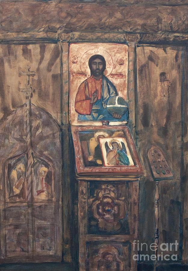 Stavropoleos Painting - Stavropoleos Church by Olimpia - Hinamatsuri Barbu