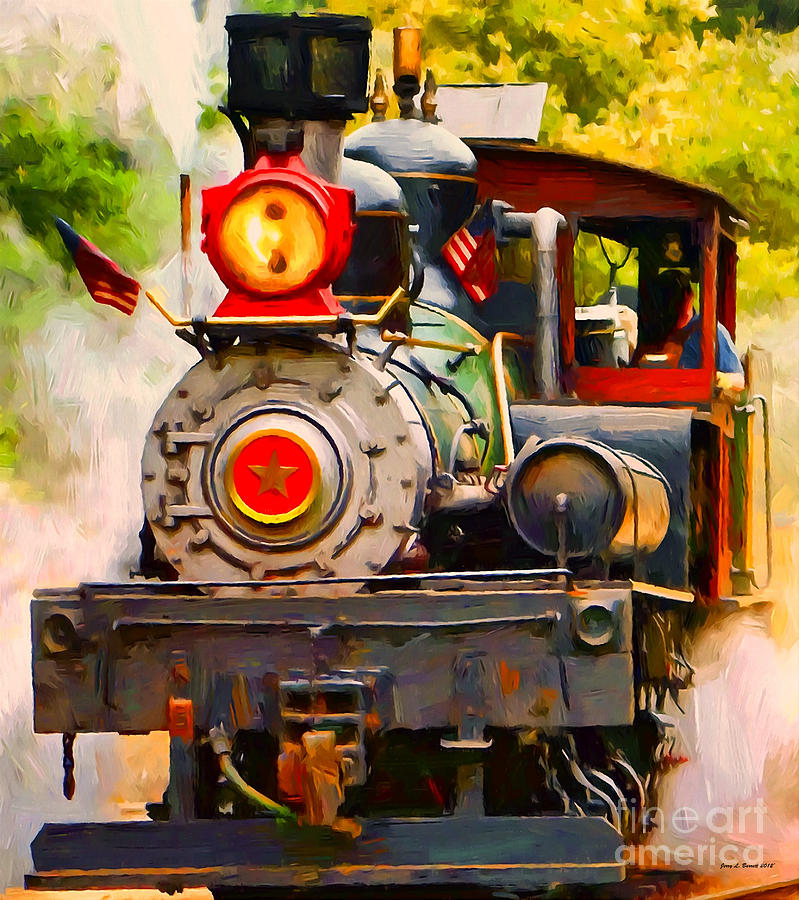 Steam Train by Jerry L Barrett