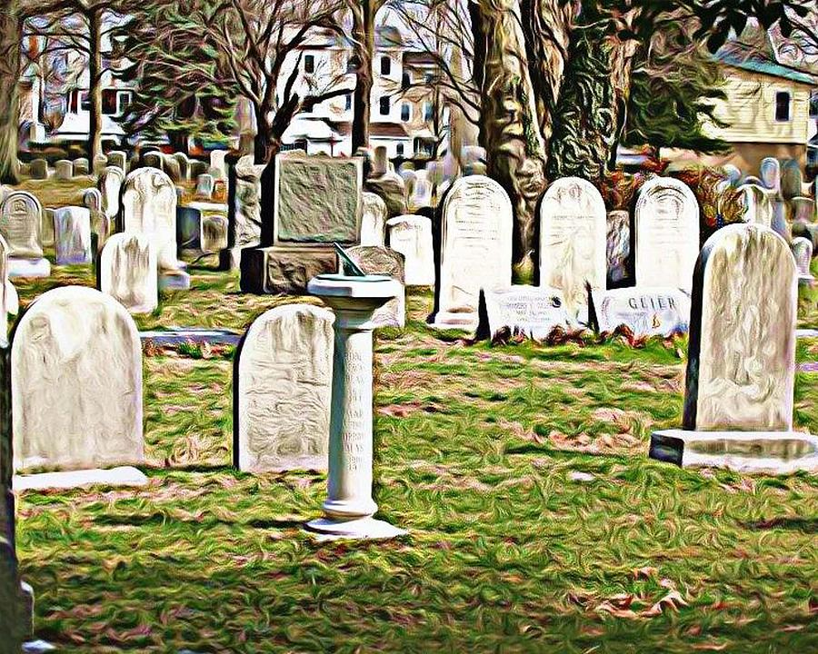 Tombstones Photograph - Stjamescem3 by J erik Leiff
