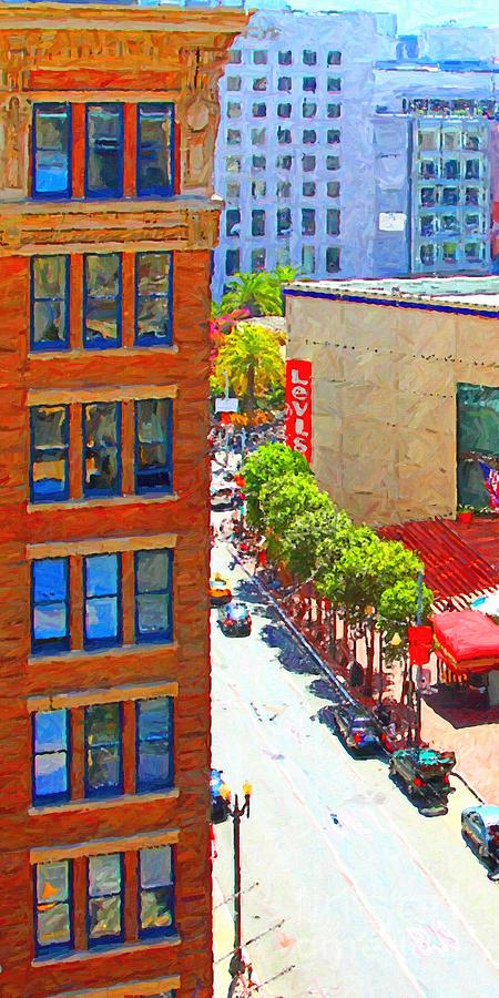 San Francisco Photograph - Stockton Street San Francisco . View Towards Union Square by Wingsdomain Art and Photography