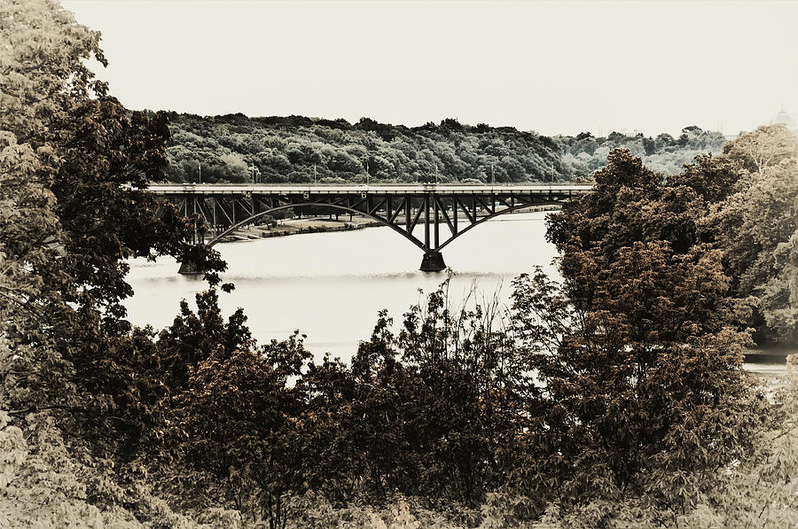 Strawberry Photograph - Strawberry Mansion Bridge From Laurel Hill by Bill Cannon