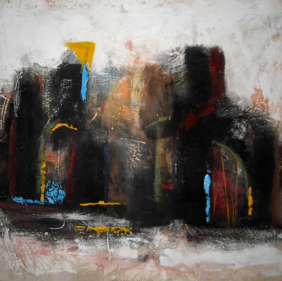 Abstract Paintings Painting - Street In Marrakech 2 by Mohamed KHASSIF