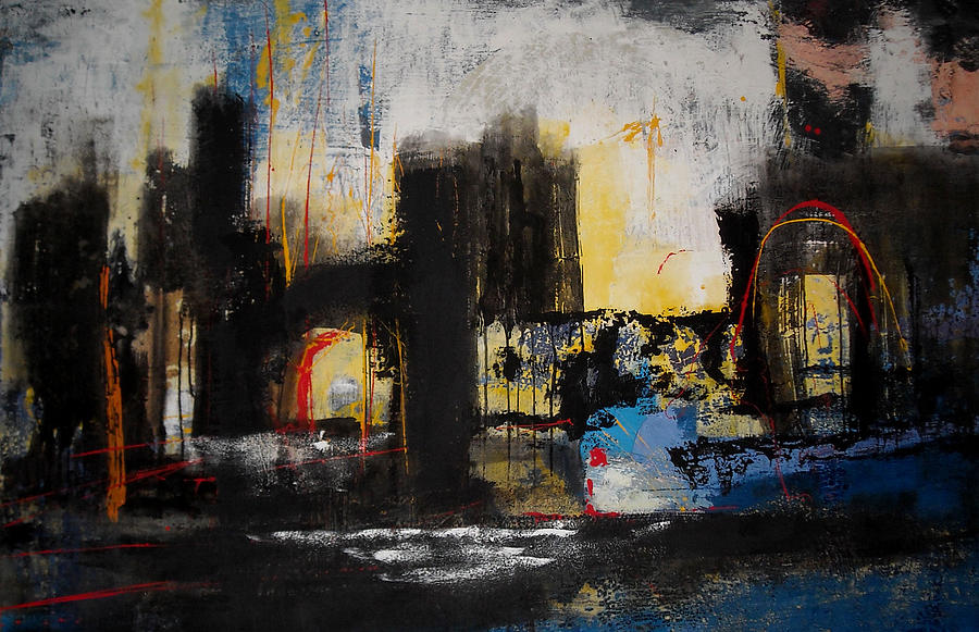 Abstract Paintings Paintings Painting - Street In Marrakech by Mohamed KHASSIF
