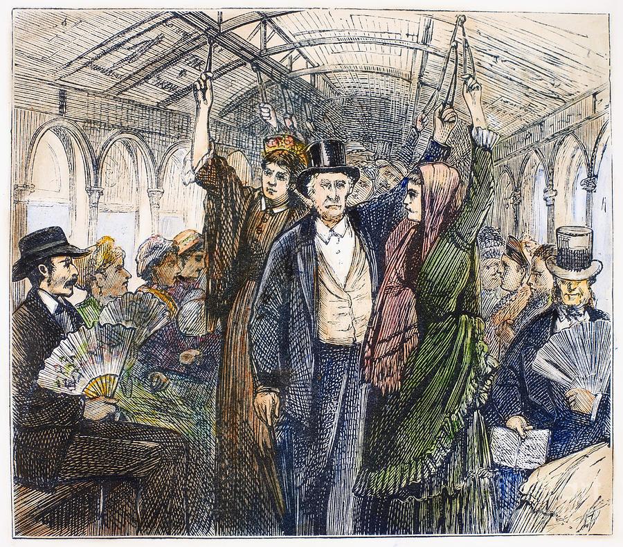 1876 Photograph - Streetcar, 1876 by Granger