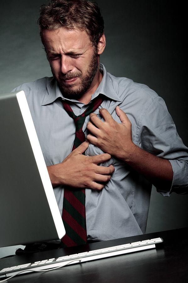 Computer Photograph - Stress-related Heart Attack by Mauro Fermariello