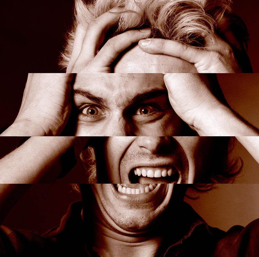 Human Photograph - Stressed Man by Victor De Schwanberg