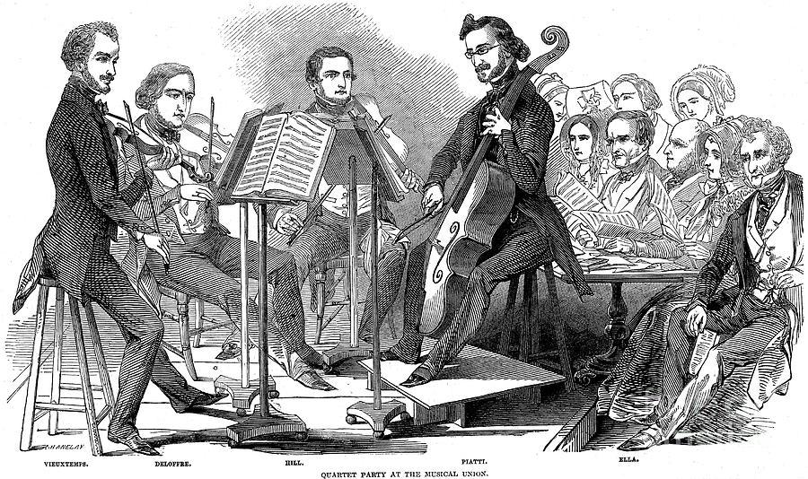1846 Photograph - String Quartet, 1846 by Granger