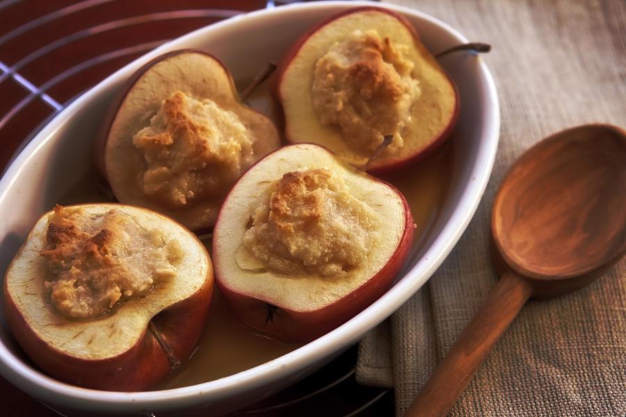 Baked Apple Photograph - Stuffed Baked Apples by Joana Kruse