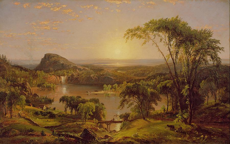 Landscape Painting - Summer Lake Ontario by Jasper Francis Cropsey