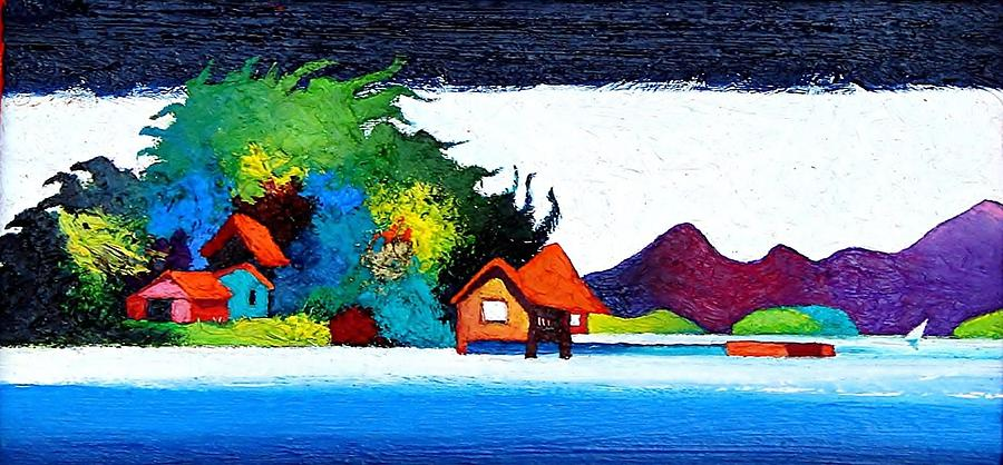 Outdoors Painting - Summer Vacation by Rob M Harper