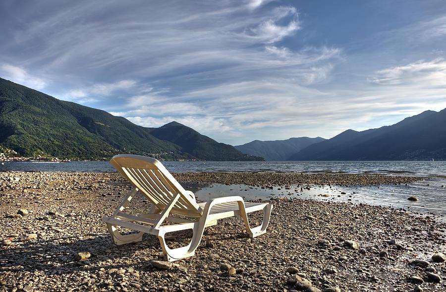 Lago Maggiore Photograph - Sun Chair On Lake Maggiore by Joana Kruse