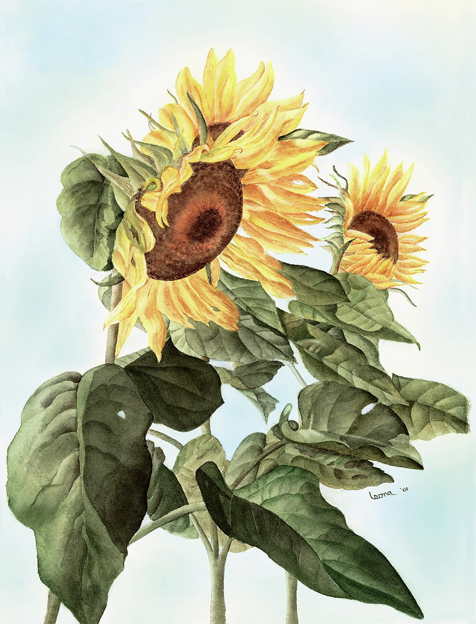 Sunflowers Painting - Sunflowers by Leona Jones