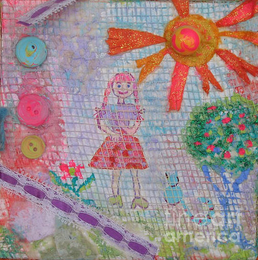 Whimsical Mixed Media - Sunny Day by Marlene Robbins