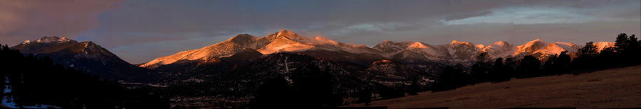 Sunrise Photograph - Sunrise On Longs Peak by G Wigler