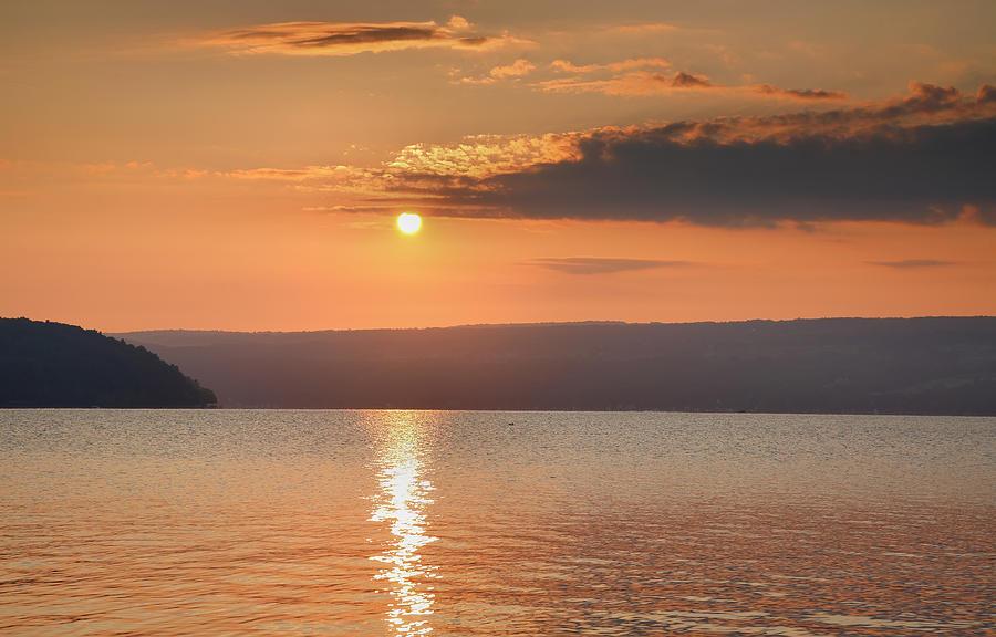 Dawn Photograph - Sunrise Over Keuka II by Steven Ainsworth