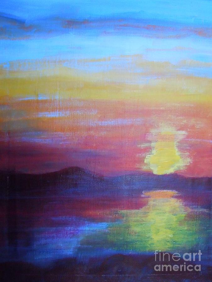 Sunrise Painting - Sunrise Seascape by Lam Lam