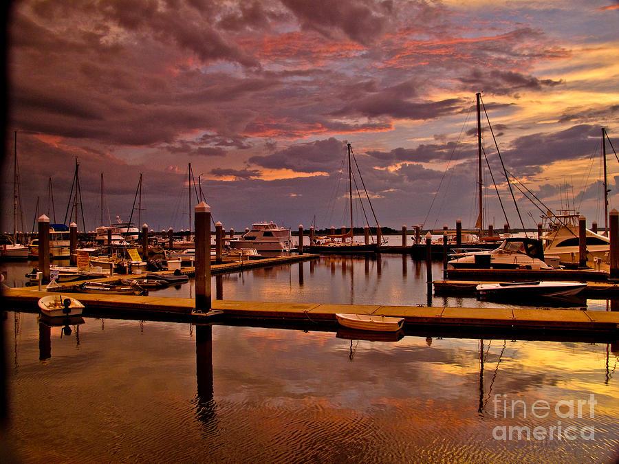 Amelia Island Photograph - Sunset At The Marina by Scott Moore