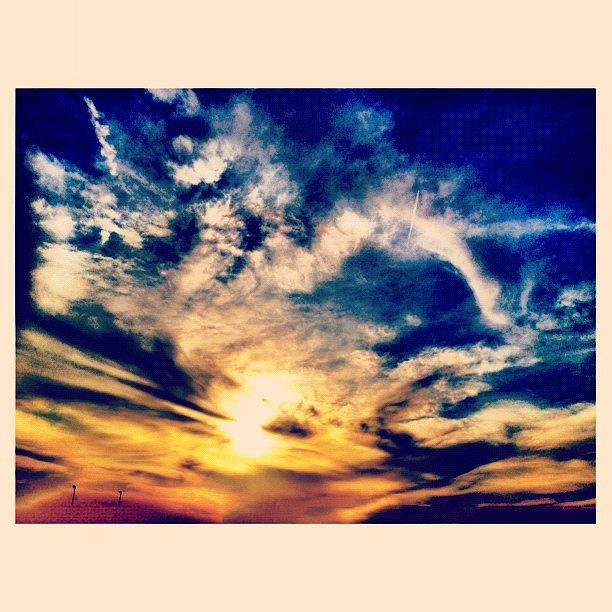 Clouds Photograph - Sunset Clouds by Paul Cutright