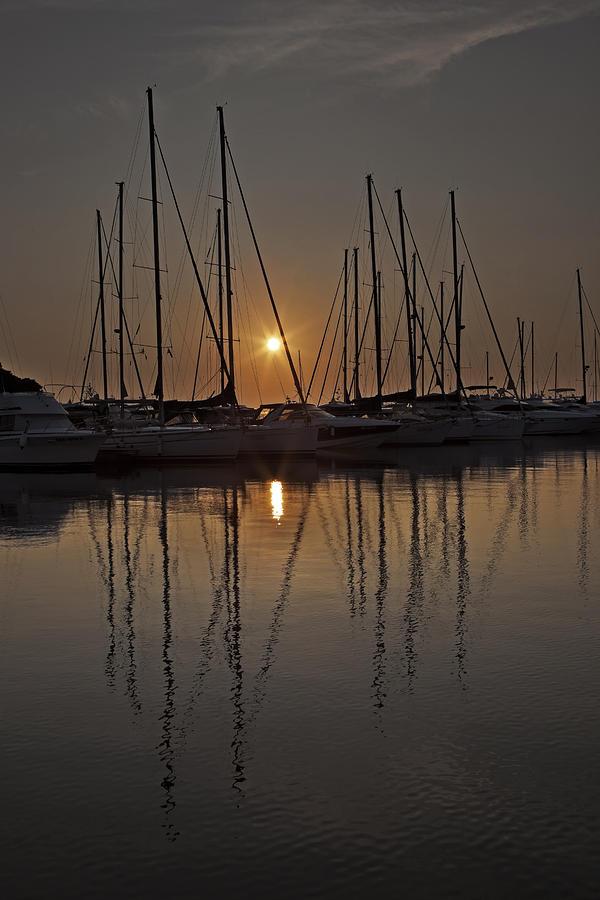 Boats Photograph - Sunset by Joana Kruse