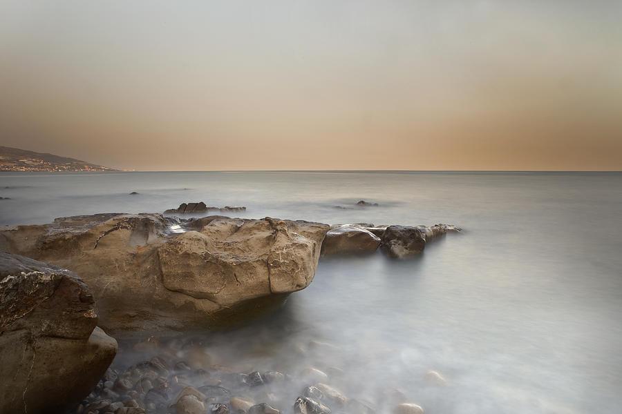 Bussana Photograph - Sunset On The Mediterranean by Joana Kruse