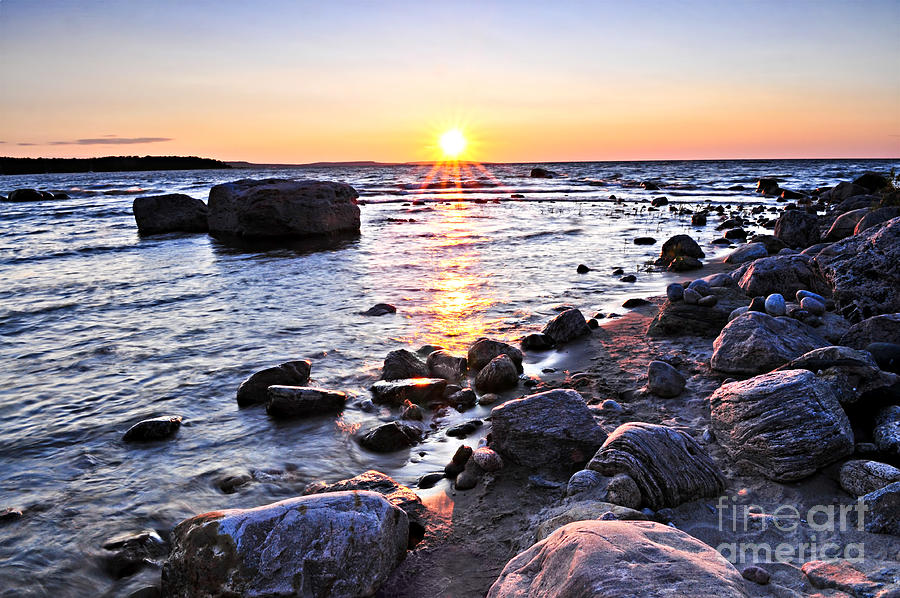 Sunset Photograph - Sunset Over Water by Elena Elisseeva