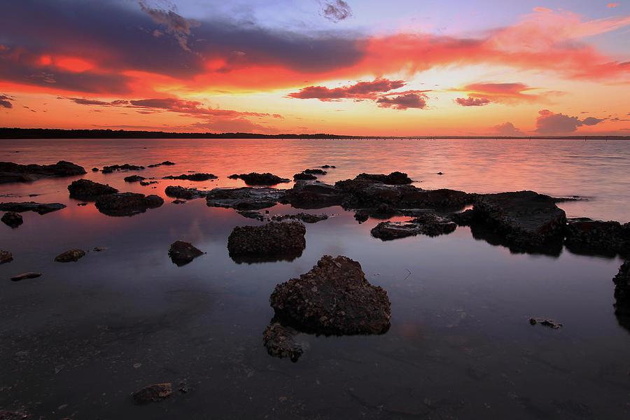 Sunset Photograph - Swan Bay Sunset by Paul Svensen