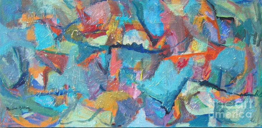 Abstract Painting - Symphony by Marlene Robbins