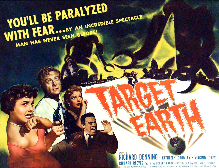 Crowley Photograph - Target Earth, From Left Kathleen by Everett