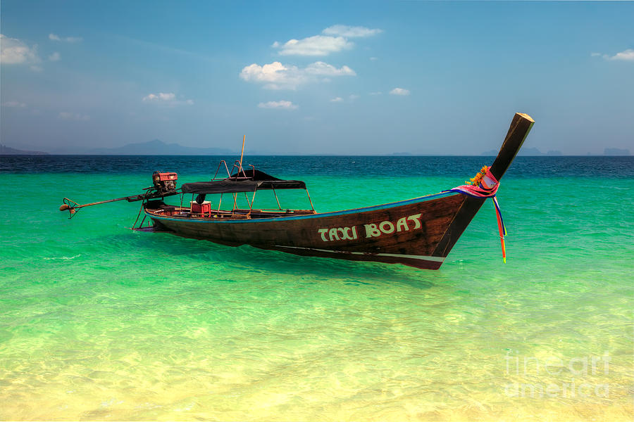Asia Photograph - Taxi Boat by Adrian Evans