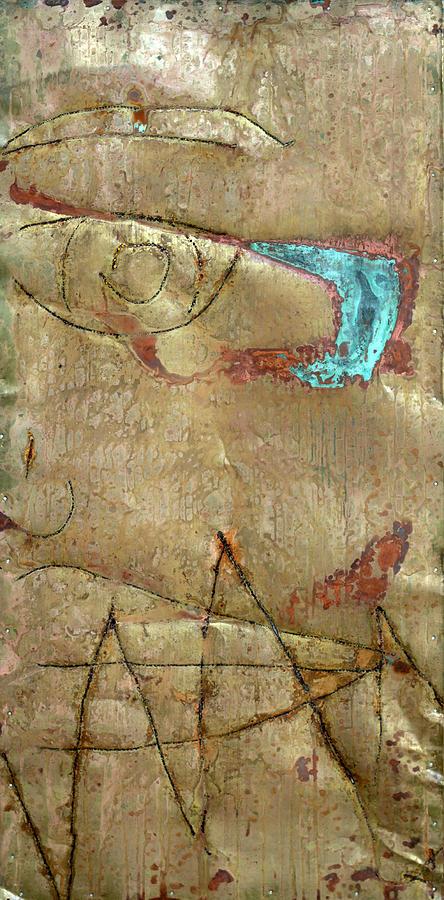 Sad Miss Distance Cupper Love Sculpture - Te Recuerdo 1 by Jorge Berlato