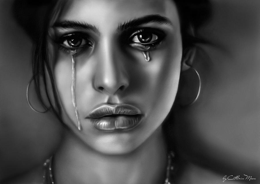 Tears Digital Art - Tears by Catherin Moon