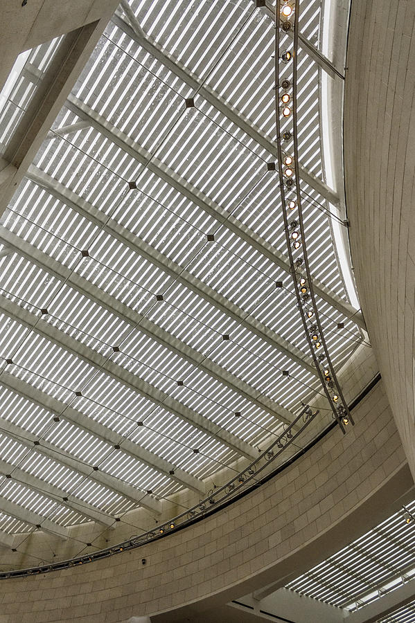 Museum Photograph - Telfair Sun Screen And Skylight Detail by Lynn Palmer
