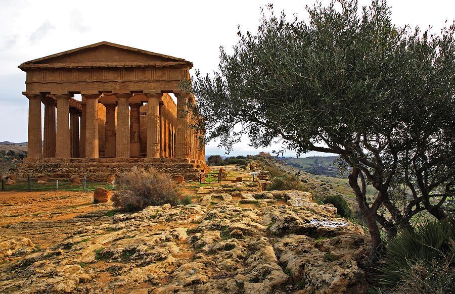 Landscape Photograph - Temple Of Concordia by Steve Bisgrove