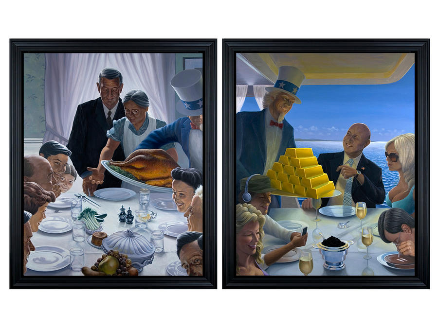 Political Painting - Thanksgiving for the Blankfeins by Johnny Everyman