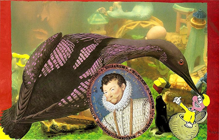 Loon Mixed Media - The Aquarium by Rob M Harper