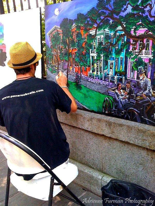 French Quarter Photograph - The Artist by Adrienne Furman