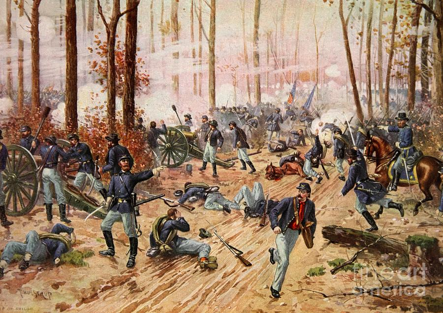 The Battle Of Shiloh Painting By Henry Alexander Ogden