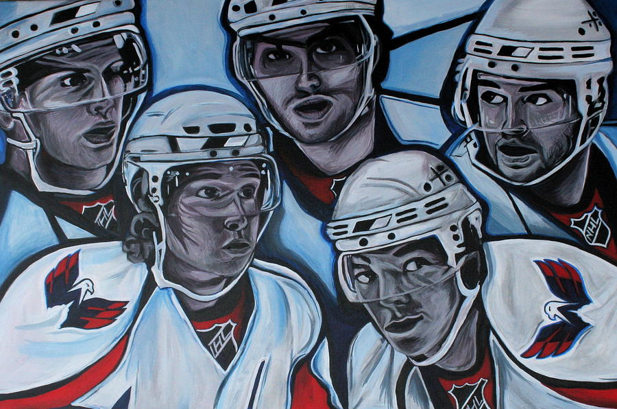 Washington Capitals Painting - The Capitals by Kate Fortin