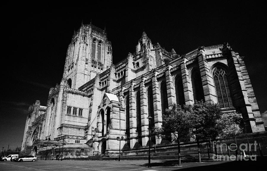 Liverpool Photograph - the Cathedral Church of Christ Liverpool Anglican Cathedral Merseyside England UK by Joe Fox