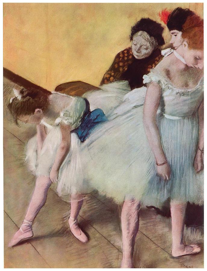 The Dancing Class Painting - The Dancing Class by Edgar Degas