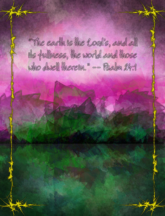 Earth Painting - The Earth Is The Lords by Christopher Gaston
