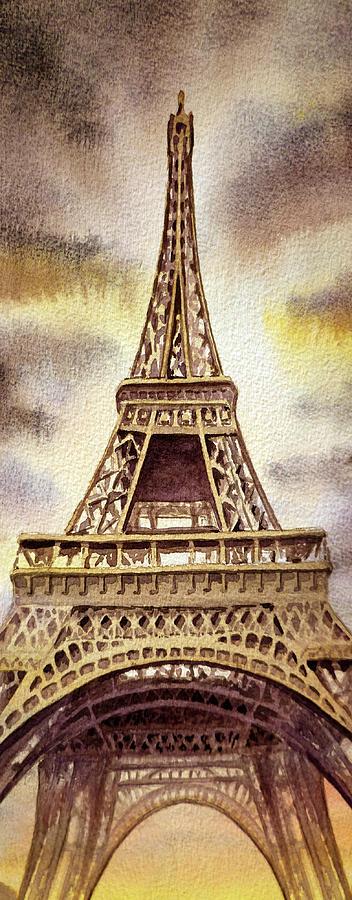 The Eiffel Tower Painting - The Eiffel Tower  by Irina Sztukowski