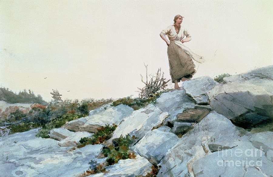 Hills Painting - The Faggot Gatherer by Winslow Homer