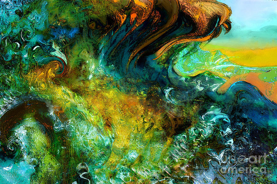 Wave Painting - The Golden Wave  by Anne Weirich