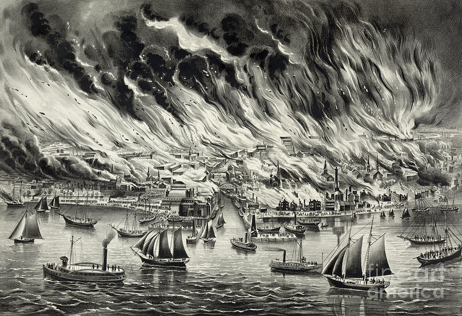 The Great Chicago Fire 1871 Photograph By Photo Researchers