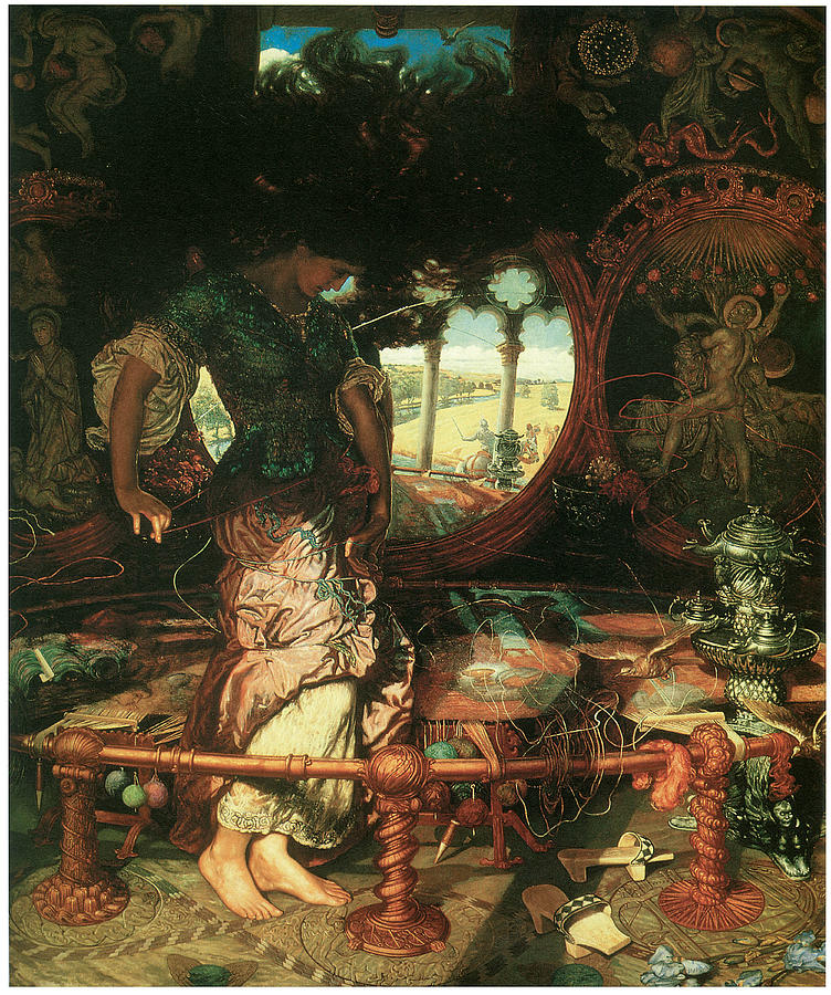 William Holman Hunt Painting - The Lady of Shalott by William Holman Hunt
