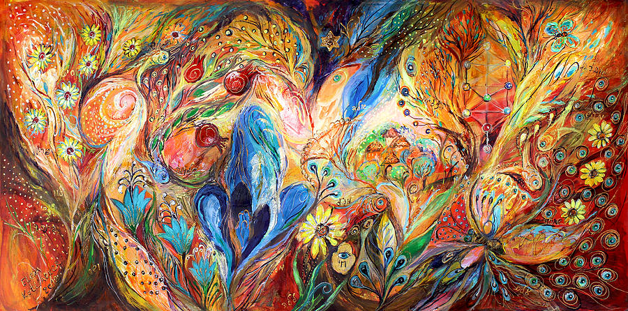 Judaica Painting - The Levitation by Elena Kotliarker